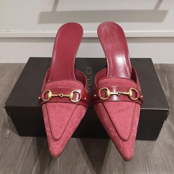 Gucci GG monogram mules